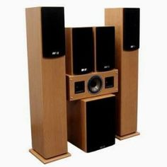"ANV AV-152B Powered 5.1 Home Theater Speaker System, Walnut Finish by Anv. $199.00. Self powered 5.1 wood speaker system. Special double horn tweeter drivers for center speaker. 8"" powered sub-woofer. Great for movies and music."