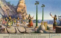 Una figura de Liebig que representa una escena en la civilización minoica en Creta