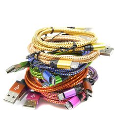 1M/2M Colorful Nylon Micro USB Cable Charger Data Sync USB Cable Cord For Android Smart Phone for tablet PC