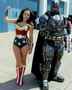 Tagged with funny, cosplay; Wonder Woman and Batman - Wonder Con Cosplay - Coming Soon First Gallery. Dc Cosplay, Batman Cosplay, Cosplay Outfits, Best Cosplay, Cosplay Girls, Cosplay 2016, Superhero Cosplay, Funny Cosplay, Wonder Woman Cosplay