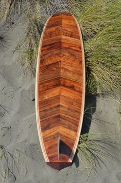 """DarrelO built his DIY TSS Chameleon kit using our paulownia, koa and redwood. """"Surfed it last Saturday and I'm very happy with it! Wooden Surfboard, Surfboard Art, Board Shop, Sup Surf, Longboards, Surfboards, Paddle Boarding, Chameleon, Boats"""