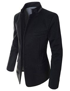 Showblanc(SBDJK8) Man's Slim FIt Chinese Collar 2 button Casual Style Blazer BLACK X-Large(US Large) Showblanc http://www.amazon.com/dp/B00SKLE642/ref=cm_sw_r_pi_dp_dedovb06XYVRA