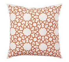 Astrid Trellis Embroidered Indoor/Outdoor Pillow | Pottery Barn