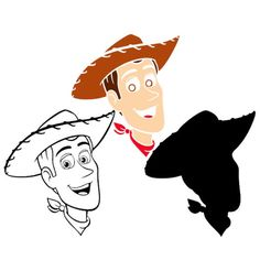 Sheriff Woody Face SVG The Toy Story Disney Cut file Cricut Silhouette Clipart Vector Shirt Heat Transfer Iron on Vinyl Decal Party Birthday 3d Cuts, Toy Story Coloring Pages, Face Stencils, Sheriff Woody, Cricut Svg Files Free, 2nd Birthday Party Themes, Disney Silhouettes, Cute Disney Drawings, Vinyl Cutting