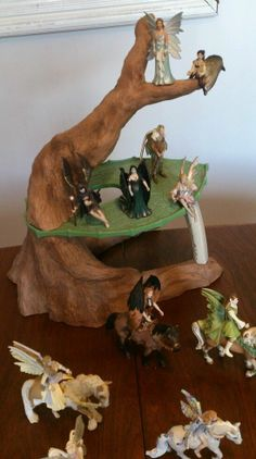 Schleich world of fantasy lot - horses figures tree Germany 2006 2007
