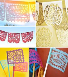 Juneberry Lane: Wedding Wednesday: Papel Picado . . . Romantic, Colorful, and Simply Splendid!!