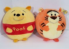 Ty Beanie Ballz Winnie the Pooh & Tigger Bean Bag Plush Stuffed Animals Sz Plush Animals, Stuffed Animals, Ty Beanie Ballz, Tigger Winnie The Pooh, Palace Pets, Bean Bag, Pet Toys, Bunny, Halloween
