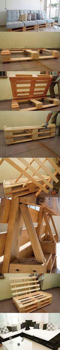 Como fazer um sofá de paletes passo a passo - # fazer .