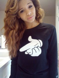 LOVE her hair/color and crooks and castles sweatshirt!!!!!