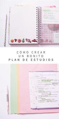 Apuntes bonitos + Crear un plan de estudios