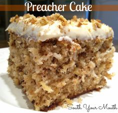 Preacher Cake | This is one of the best cake recipes from scratch because it's an old fashioned recipe. It's an easy cake recipe that has a delicious pineapple and coconut flavor (not to mention a tasty cream cheese frosting).