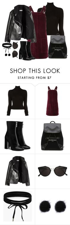 """Untitled #3010"" by theaverageauburn on Polyvore featuring BLK DNM, Topshop, Balenciaga, H&M, RetroSuperFuture and Boohoo"