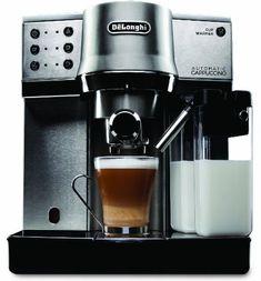 Best Espresso Machine Under 500 - DeLonghi EC860 Espresso Maker Cappuccino Maker, Cappuccino Coffee, Cappuccino Machine, Espresso Maker, Coffee Cups, Coffee Maker, Breville Espresso, Coffee Machine, Espresso Machine Reviews