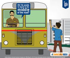 The bus driver checks the surrounding area, observes the road behind for traffic, and halts the bus for just enough time so the child can board. #ZimmedarIndia