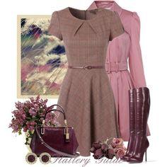 Cute vintage outfit.  LOVE the dress - it's SO Nancy Drew!
