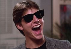 Tom Cruise gave sales of Ray-Ban Wayfarer sunglasses a boost in the '80s classic Risky Business.