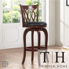 Verona Cherry Scroll-back Swivel 24-inch Counter Stool, A Contemporary Bar Stool Which Will Add Stye to Your Dining Room or Kitchen. This Stool is Elegant and Sturdy Tribecca Home http://www.amazon.com/dp/B00J75JBIQ/ref=cm_sw_r_pi_dp_axJ4vb0JR5MRD