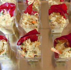 Finger food di insalata di pollo