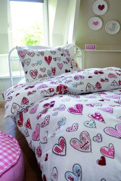 Beddinghouse Lots of Hearts - Dekbedovertrek - Pink - 1-persoons (140x200/220 cm + 1 sloop)