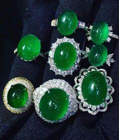 Jadeite rings.