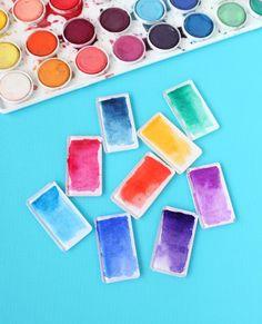 DIY Watercolor Magnets