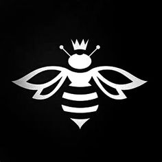 OMG it's perfect especially if your name means honey bee! - queen bee tattoo…OMG it's perfect especially if your name means honey bee! Queen Bee Tattoo, Stencils, Bee Stencil, Foto Picture, Bee Art, Bee Design, Logo Design, Graphic Design, Illustration