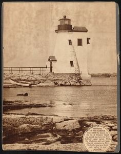Palmer's Island lighthouse and keeper's quarters, New Bedford, MA