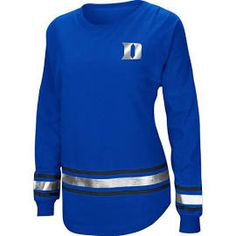 b787f4c453bd3 Colosseum Athletics Women s Duke University Humperdinck Oversize Long  Sleeve T-shirt (Blue