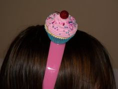 Mini Cupcake Headband Ready to Ship by FakeCupcakeCreations, $15.00