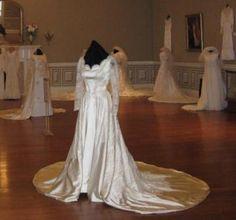 Wedding Gown 2012 Exhibit- Beasley1953/Follis1959  Photo Oaklands Historic House Museum