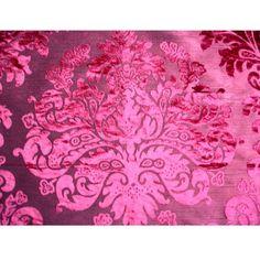 Ruby Damask Burnout Velvet Fabric