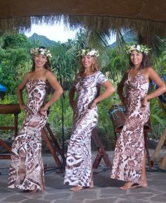 All garments are locally handpainted and handblock printed in Rarotonga Cook Islands. Island Wear, Island Outfit, Polynesian Dance, Polynesian Dresses, Polynesian Tribal, Hawaiian Dresses, Hawaii Outfits, Hawaii Dress, Samoan Dress