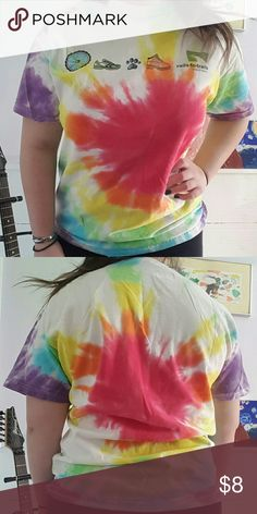 Tye dye rails to trails tee 100% cotton, I tie dyed it myself, perfect condition Gildan Tops Tees - Short Sleeve