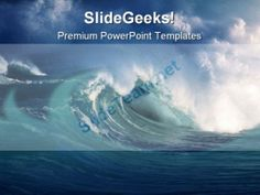 Wave Beach PowerPoint Template 0510 #PowerPoint #Templates #Themes #Background