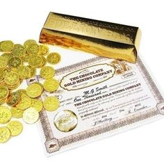 Give them a gift of gold with the Personalised Chocolate Coin Bullion Bar #PersonalisedGifts #Chocolate   £11.99