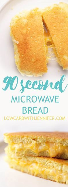 This 90 second bread is made in the microwave and you can use almond or coconut flour. I also provide oven instructions. Use this to make a grilled cheese!