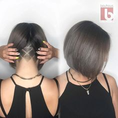 Image result for nape undercut hairstyle women with medium short hair