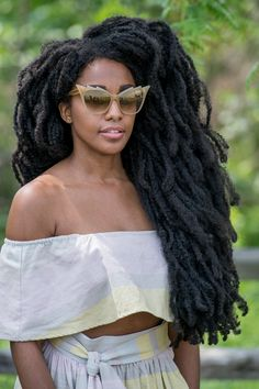 Your Ultimate Guide to Celebrity Sunglasses Natural Haircut Styles, Natural Afro Hairstyles, Dreadlock Hairstyles, Girl Hairstyles, Curly Hair Styles, Dreadlock Styles, Quann Sisters, Celebrity Sunglasses, Beautiful Dreadlocks