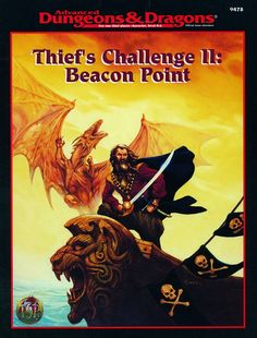 HHQ7 Thief's Challenge II: Beacon Point (2e) | Book cover and interior art for Advanced Dungeons and Dragons 2.0 - Advanced Dungeons & Dragons, D&D, DND, AD&D, ADND, 2nd Edition, 2nd Ed., 2.0, 2E, OSRIC, OSR, d20, fantasy, Roleplaying Game, Role Playing Game, RPG, Wizards of the Coast, WotC, TSR Inc. | Create your own roleplaying game books w/ RPG Bard: www.rpgbard.com | Not Trusty Sword art: click artwork for source