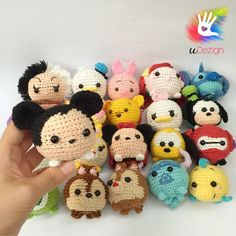 """This pattern is available only in English language. For those who love cute things, Tsum Tsum Mickey is at the perfect size to hold on your palm or attach on your bag to be your traveling companion. Format: PDF document of 8 pages each with detailed instructions. Finished size: approx. 3"""" tall with fingering/worsted yarn with 4/0 hook. Youll be able to download the PDF files as soon as your payment has been confirmed. Youll receive an email by Etsy with the link for download. --..."""