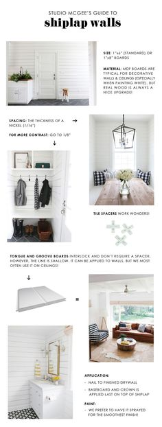 Studio McGeeu0027s Guide To Shiplap Walls (STUDIO MCGEE)