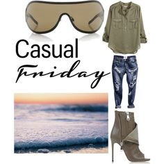 Watching the Sunset at the Beach by lexy13430 on Polyvore featuring polyvore, fashion, style, H&M, Casadei and Chanel