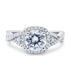 Solitaire Split Shank Wedding Engagement Ring Sterling Silver 1.30Ct Russian CZ