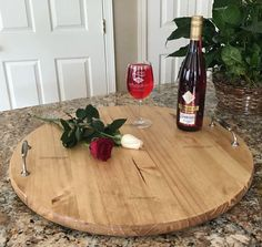 A personal favorite from my Etsy shop https://www.etsy.com/listing/508658753/serving-tray-rustic-wood-serving-tray