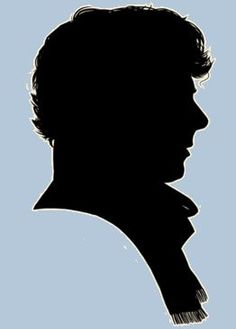 """Sherlock silhouette - might be cool to make a bleached t-shirt with this, with, """"Sherlock Lives,"""" or, Baker St. Sherlock Holmes, Sherlock 3, Sherlock Crafts, Sherlock Poster, Sherlock Tattoo, Louise Brealey, Geek Crafts, John Watson, Martin Freeman"""