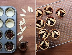 Buttery, melt-in-your-mouth shortbread mince pies for Christmas. Filled by homemade mincemeat made with butter instead of suet. Mince Pies, Mince Meat, Mincemeat Pie, Jolly Holiday, Holly Christmas, Yummy Treats, Yummy Food, No Bake Pies, Winter Food