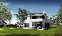 DOM.PL™ - Projekt domu PE Przemek CE - DOM NS1-31 - gotowy koszt budowy Mediterranean Homes, Facade House, Design Case, Home Fashion, Planer, House Plans, New Homes, Home And Garden, How To Plan