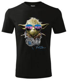 Yoda DJ T-Shirt/Star Wars T-shirt/Men T-shirt by LunarArtStore