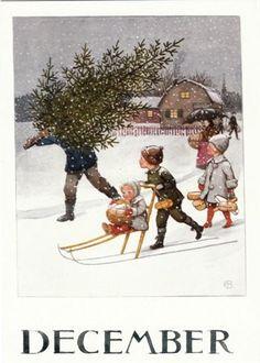 December - Elsa Beskow