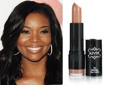Gabrielle Union wearing NYS Round Lip Stick Circe...nude lips